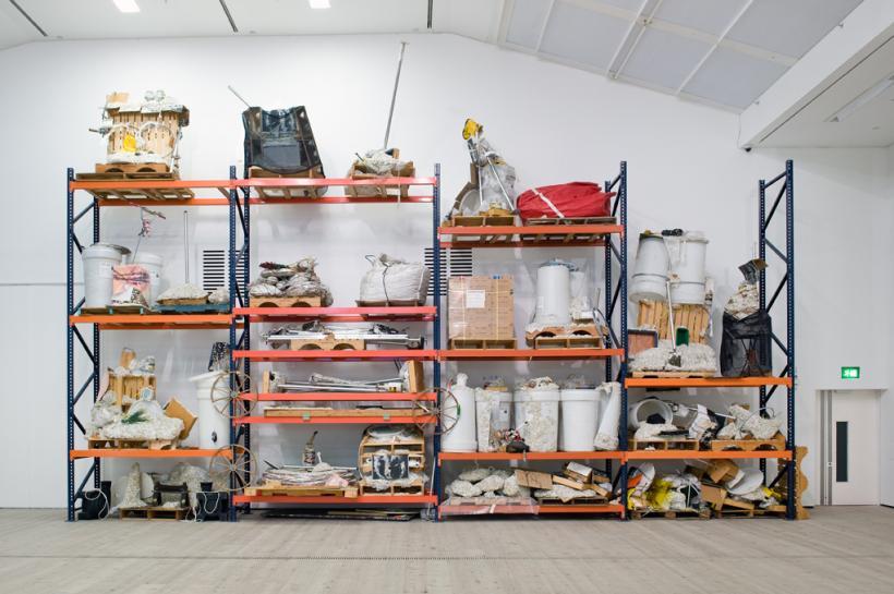 Jason Rhoades, Iwans Rack, installation view at BALTIC, 2015