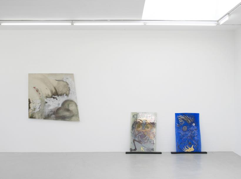 Installation view, Lucy Dodd, Kerstin Bratsch