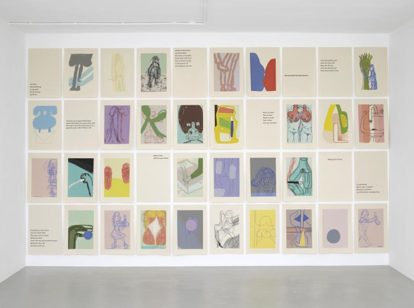 Installation view, Amy Sillman