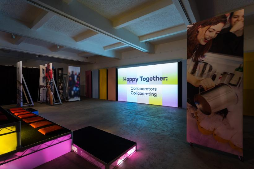Installation view, Chisenhale Gallery, 2015. Commissioned and produced by Chisenhale Gallery as part of How to work together.