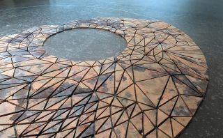 Christine Borland and Brody Condon, Hypostatis Circle - Turf kiln-fired polygons, Orkney Clay