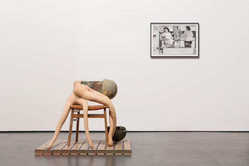 Installation view from Zabludowicz Collection: 20 Years, Sarah Lucas