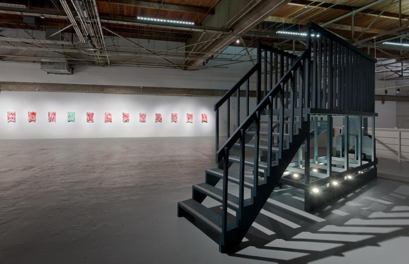 Installation view of William Pope.L: Trinket, March 20–June 28, 2015 at The Geffen Contemporary at MOCA