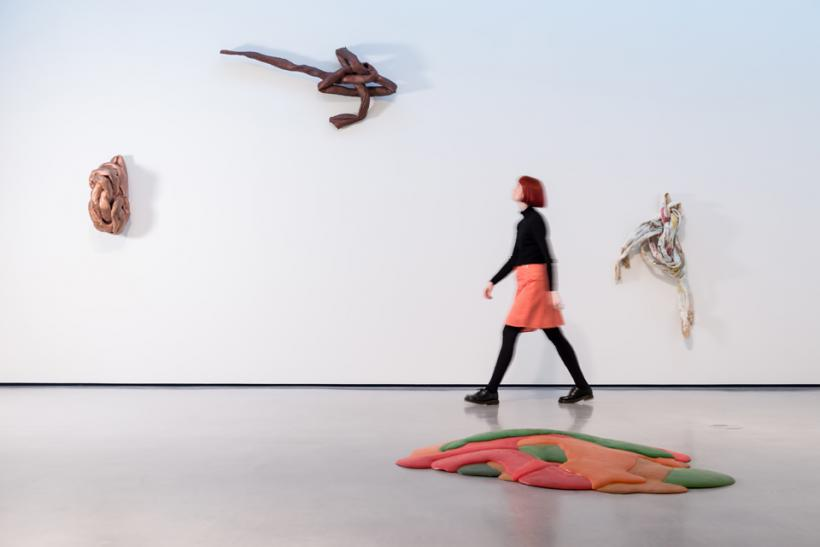 Installation shot of the Lynda Benglis exhibition at The Hepworth Wakefield