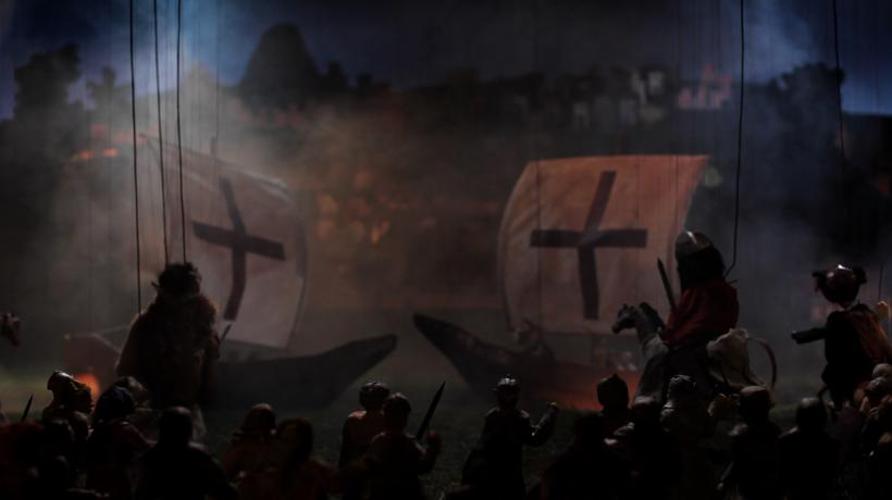 Wael Shawky, Cabaret Crusades: The Path to Cairo, 2012, HD video, color, sound, 60:00:53 min. Video still