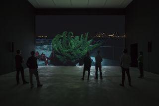 Installation view, Cyprien Gaillard: Where Nature Runs Riot, Sprüth Magers Berlin, May 2 - July 18, 2015