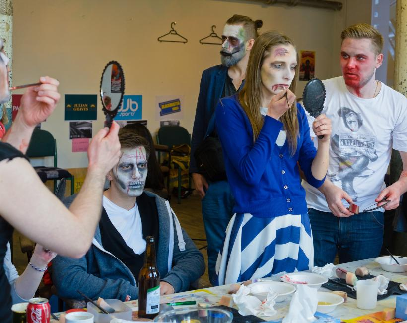 High Street Casualties, Zombie Walk preparations