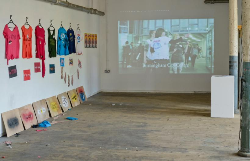 High Street Casualties, installation view