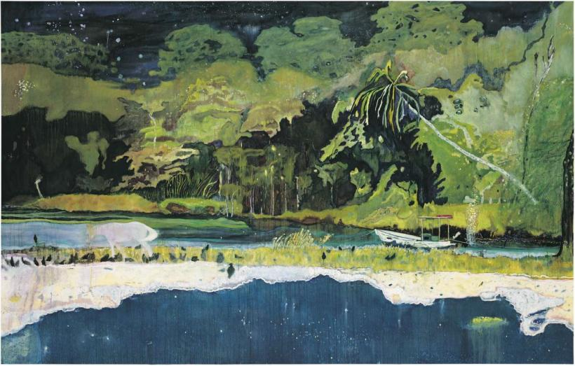 Peter Doig, Grande Riviere, 2001-02, Oil on canvas, 228.8 x 358.4 cm