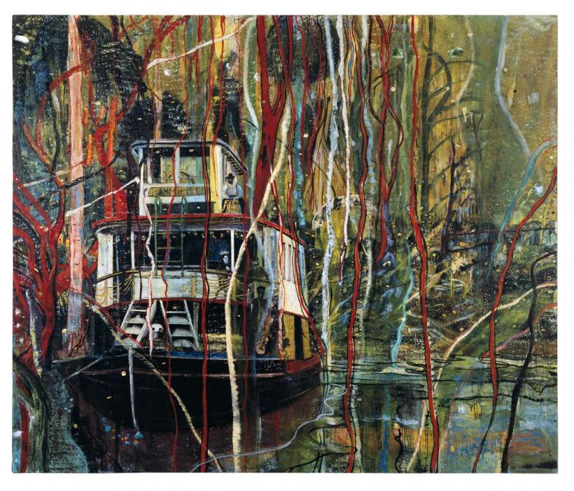 Peter Doig, Okahumkee (Some other Peoples Blues), 1990, Oil on canvas, 204 x 241 cm