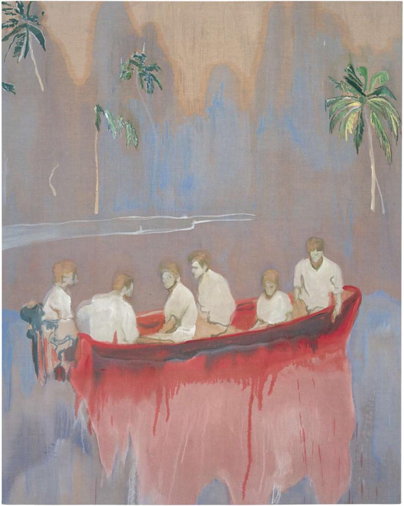 Peter Doig, Figures in Red Boat, 2005-07  Oil on linen, 250 x 200 cm