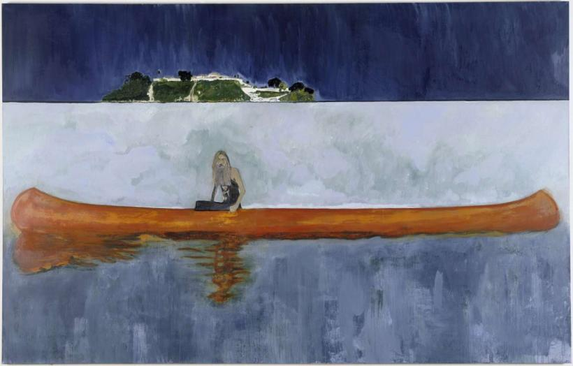 Peter Doig, 100 years Ago (Carrera), 2001, Oil on linen, 229 x 359 cm