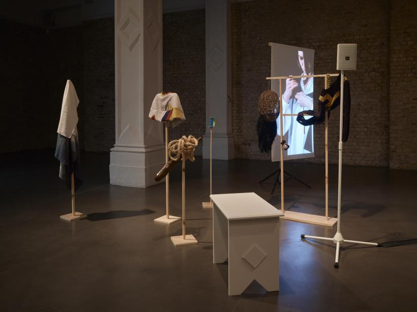 Corin Sworn, Silent Sticks, 2015. Max Mara Art Prize for Women. Installation view at Whitechapel Gallery, London, May 2015
