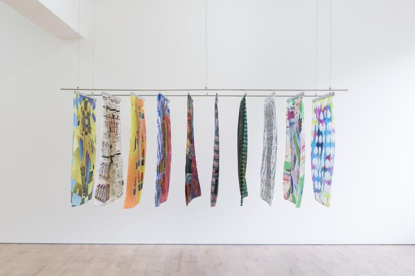 Danilo Correale, Boosted, 2014, Organic print on synthetic silk, 100x100 cm