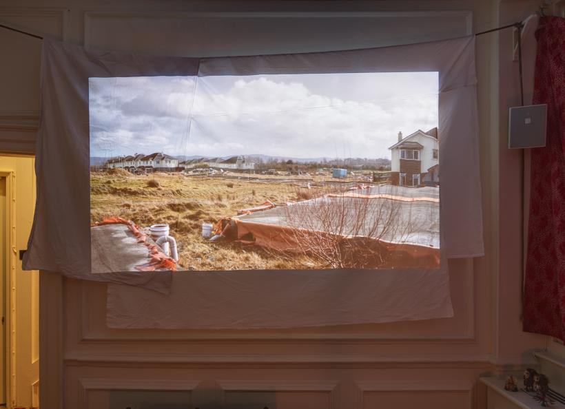 Ghost Dwelling I, Installation View, HD video, colour, silent, room installation, Edition of 4