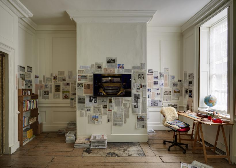 Ghost Dwelling II, Installation View, HD video, colour, stereo, room installation, Edition of 4