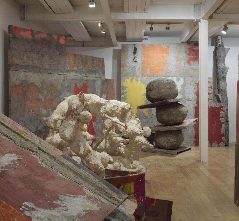 Phyllida Barlow, Installation view: set, The Fruitmarket Gallery, Edinburgh, 2015