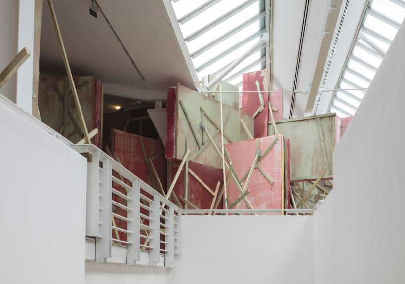 Phyllida Barlow, untitled: blockade, 2015, Installation view: set, The Fruitmarket Gallery, Edinburgh, 2015