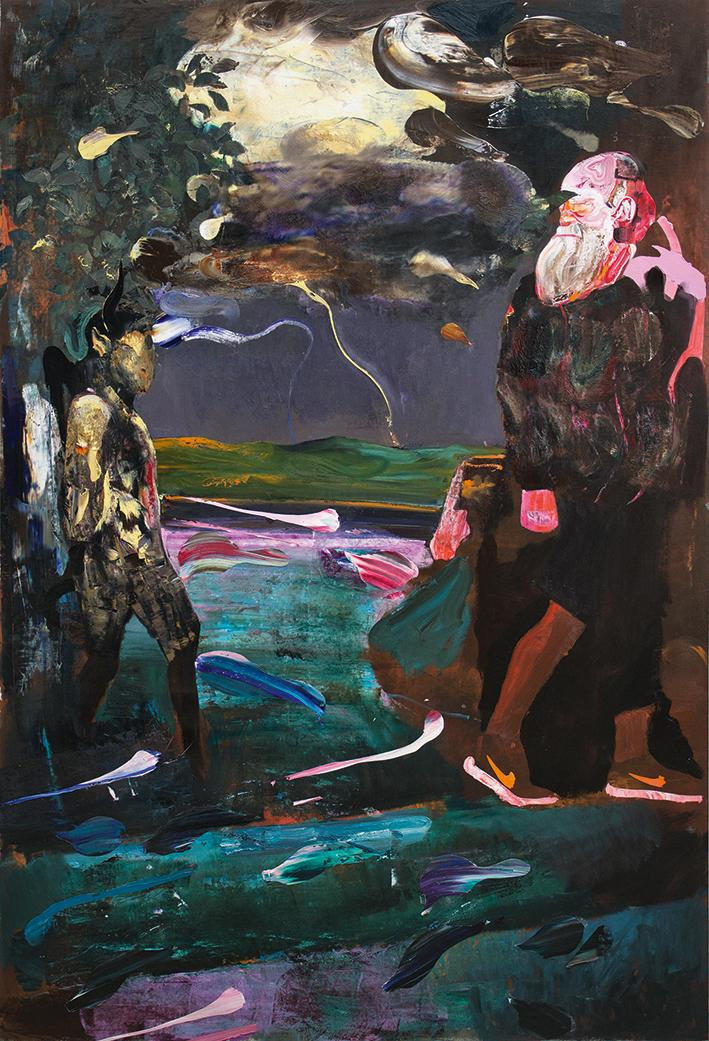 Adrian Ghenie, Darwin and the Satyr, 2014