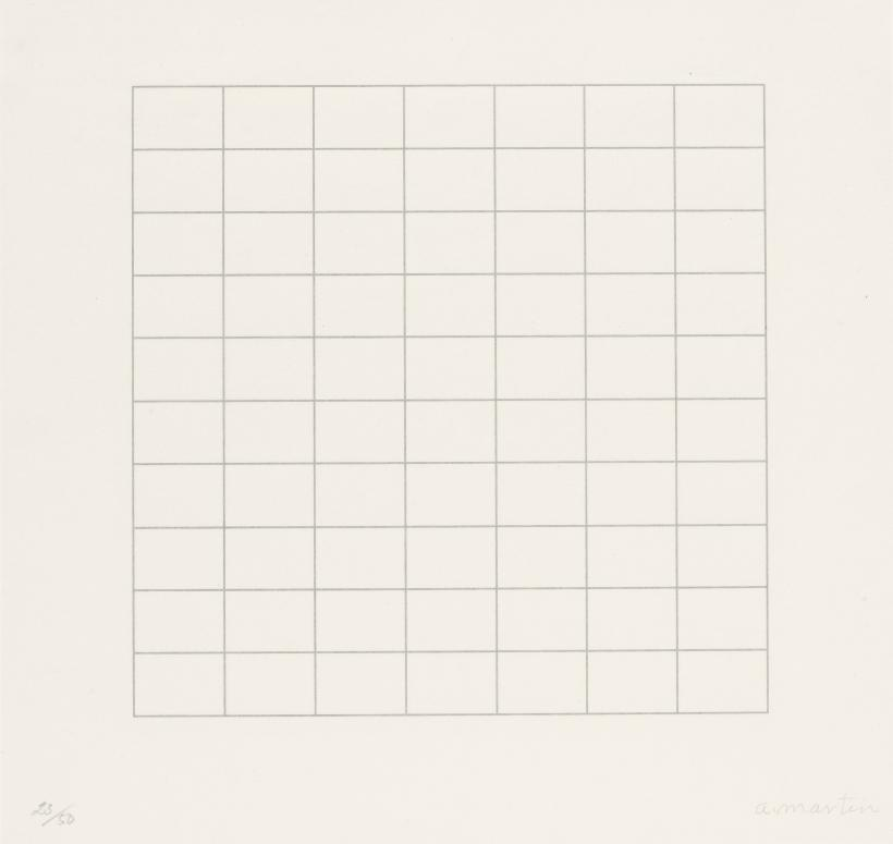 Agnes Martin (1912-2004), On a Clear Day, 1973. Parasol Press, Ltd.