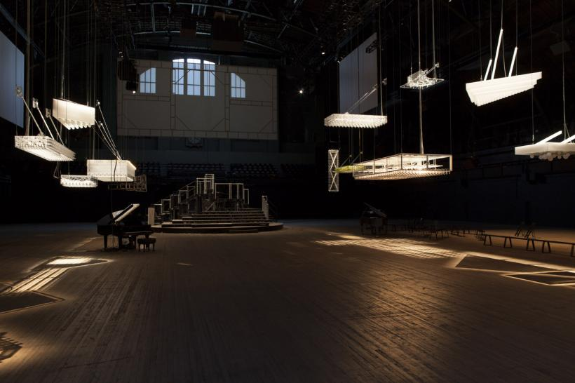 Installation view of H {N)Y P N(Y} OSIS at Park Avenue Armory, by Philippe Parreno