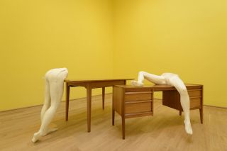 Sarah Lucas, I SCREAM DADDIO, Installation View, British Pavilion 2015