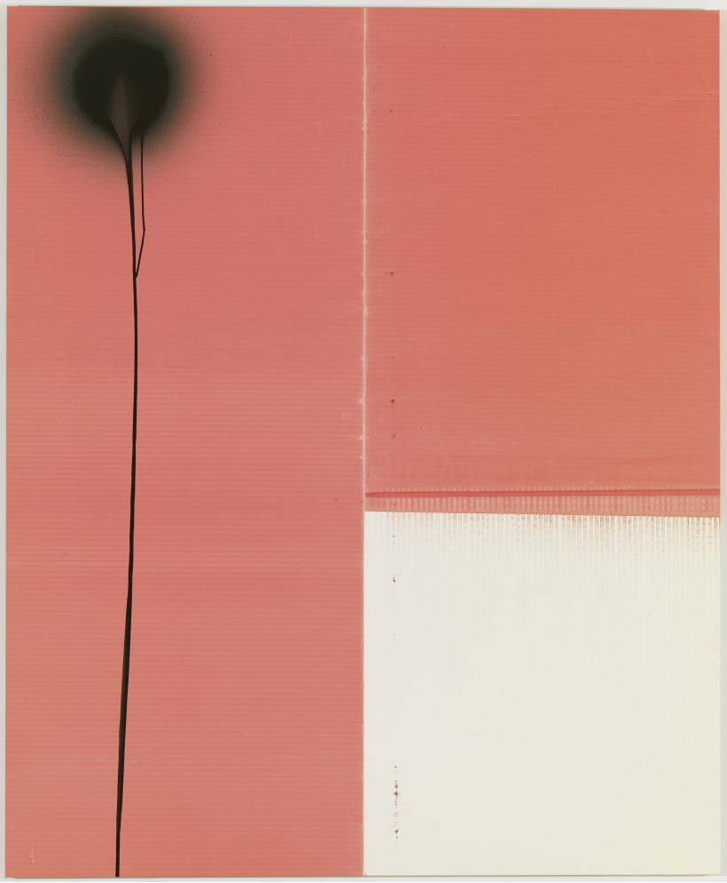 Wade Guyton and Stephen Prina, Wade Guyton, Untitled 2011, Epson UltraChrome inkjet on linen / Stephen Prina, PUSH COMES TO LOVE, Untitled, 1999 - 2011, 2011