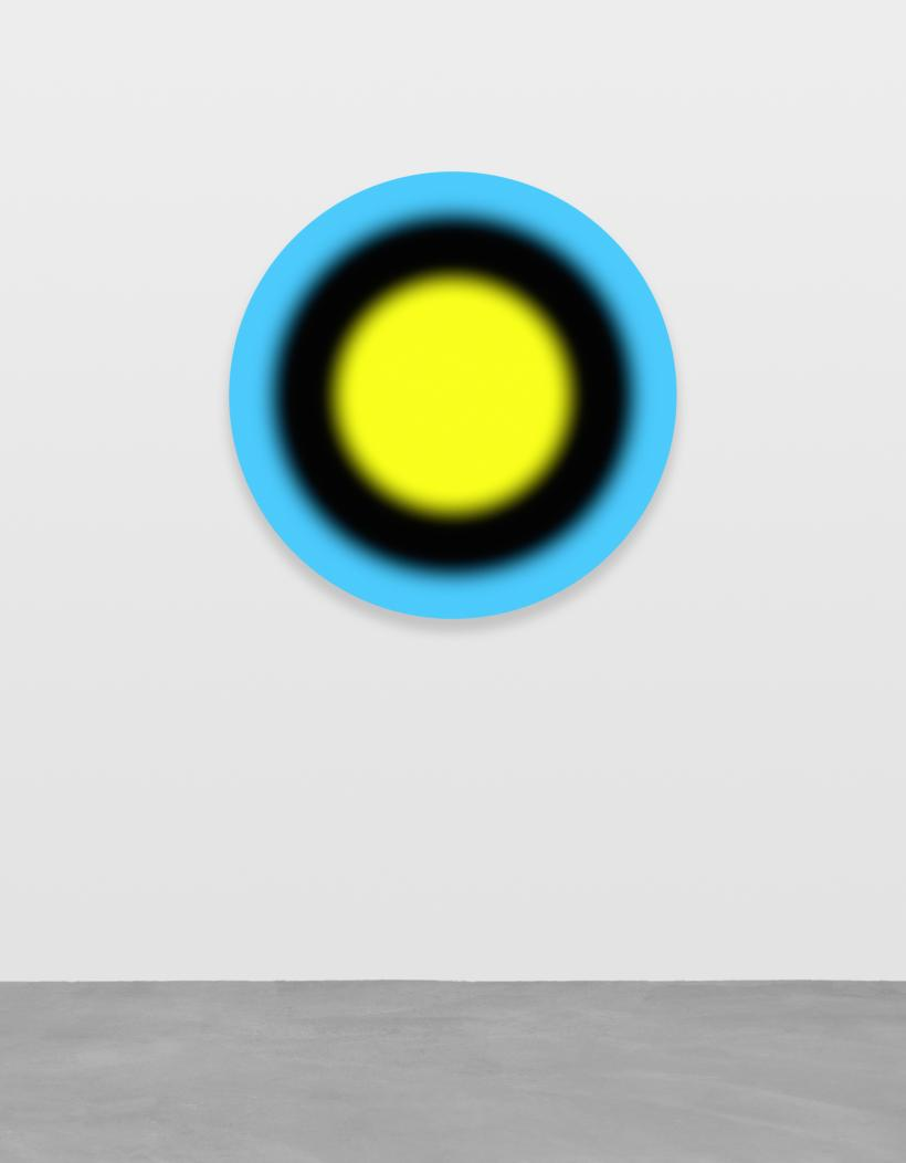 Ugo Rondinone, dreiundzwanzigstermarzzweitausendundfunfzehn, 2015, Acrylic on canvas