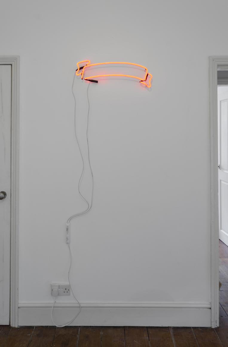 Joe Fletcher Orr, Outer Ribbon Ring, installation view at Tuff Crowd, 2015