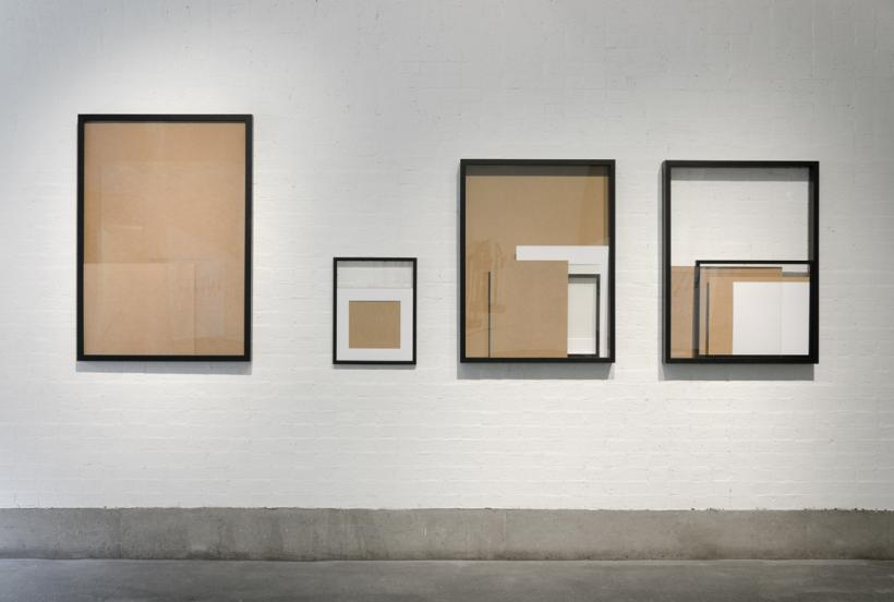 Daniel Eatock, Reconfigured Frames, 2015. RESOURCE, installation view at Bluecoat 2015