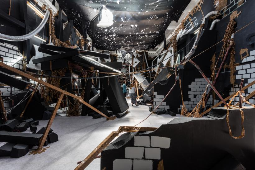 Thomas Hirschhorn, In-Between, installation view at the South London Gallery, 2015