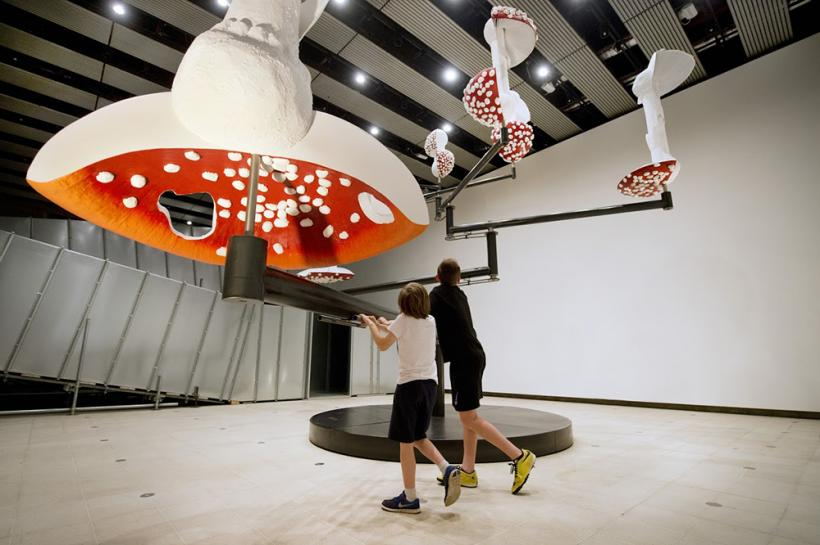 Flying Mushrooms, 2015. Installation View, Hayward Gallery, London 2015.
