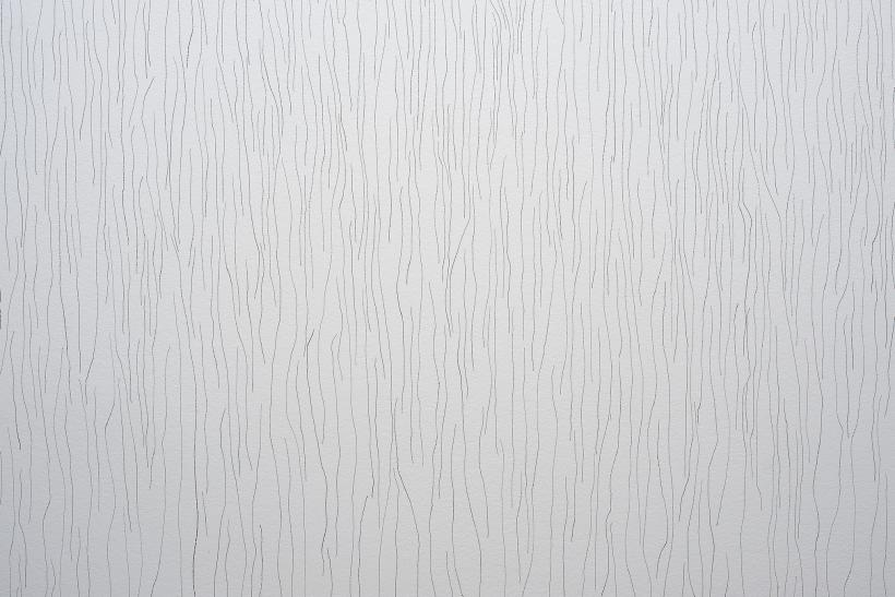Wall Drawing 46: Vertical lines, not straight, not touching, uniformly dispersed with maximum density, covering the entire surface of the wall