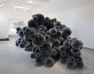 Tara Donovan Untitled (mylar) and Untitled (slinkies), Installation at Jupiter Artland, 2015