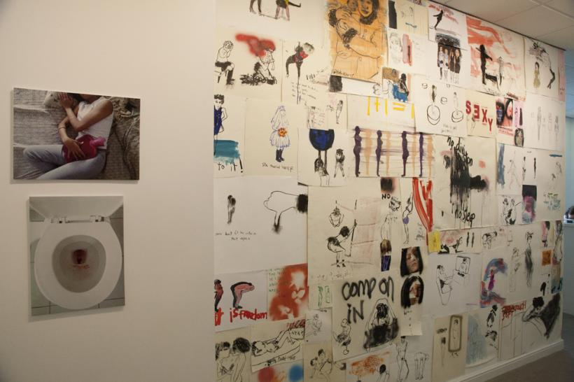 Exquisite Corpse, installation view at Fuse Art Space, 2015