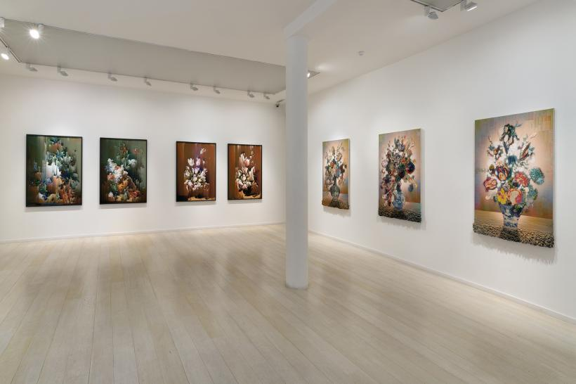 Installation view, Breaking Tulips
