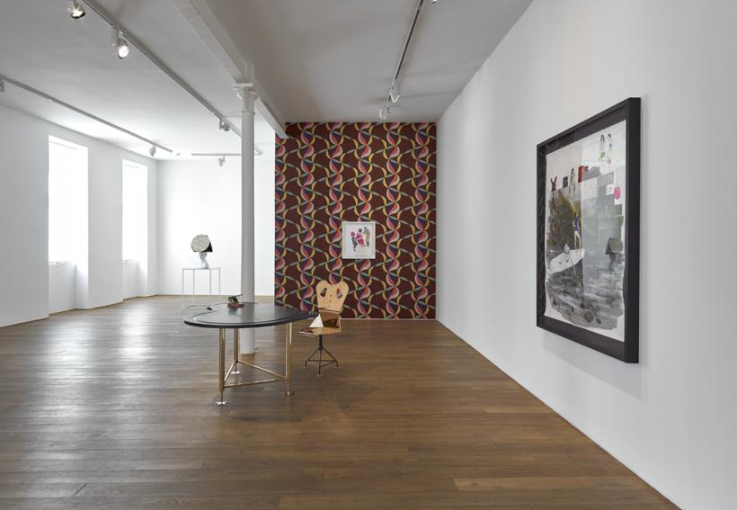 Installation view of the solo exhibition Charles Avery: The People and Things of Onomatopoeia. Ingleby Gallery, Edinburgh ( 30 July - 3 October 2015)