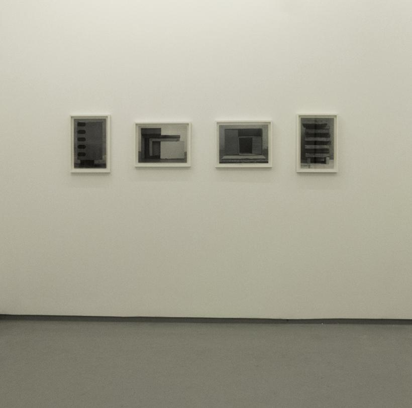 Installation view, Concrete Fictions, from Prototype series (2012) Ricardo Alcaide, ink jet print on cotton paper