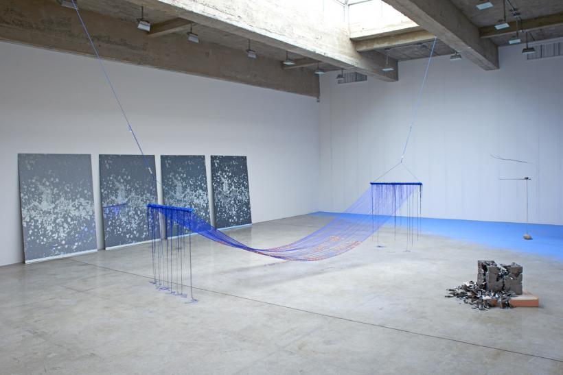 Sarah Sze, Installation view, Tanya Bonakdar Gallery, 2015
