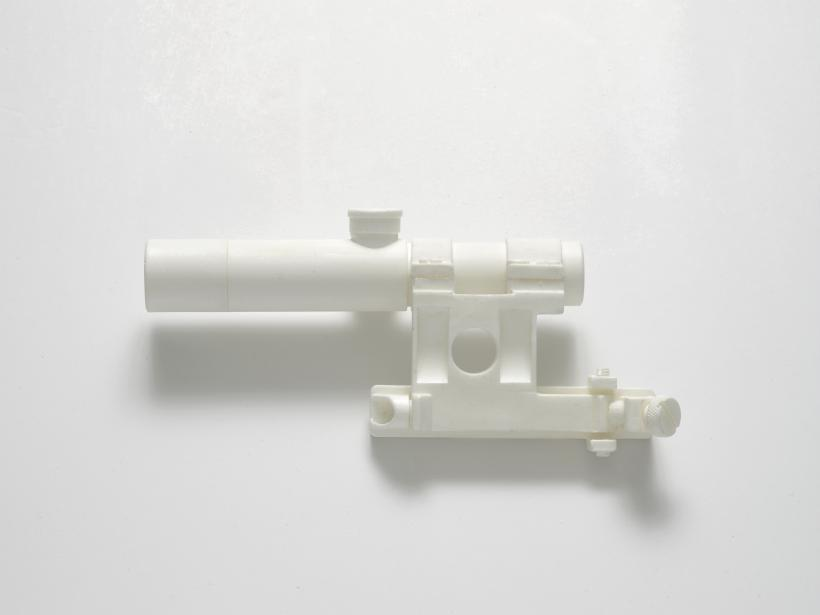 PU 3.5x20 Scope with Mount for Mosin-Nagrant Rifle (from the series Painkillers II), 2015. Powdered analgesic, polyurethane resin, life-size cast, 21 x 8 x 6 cm.