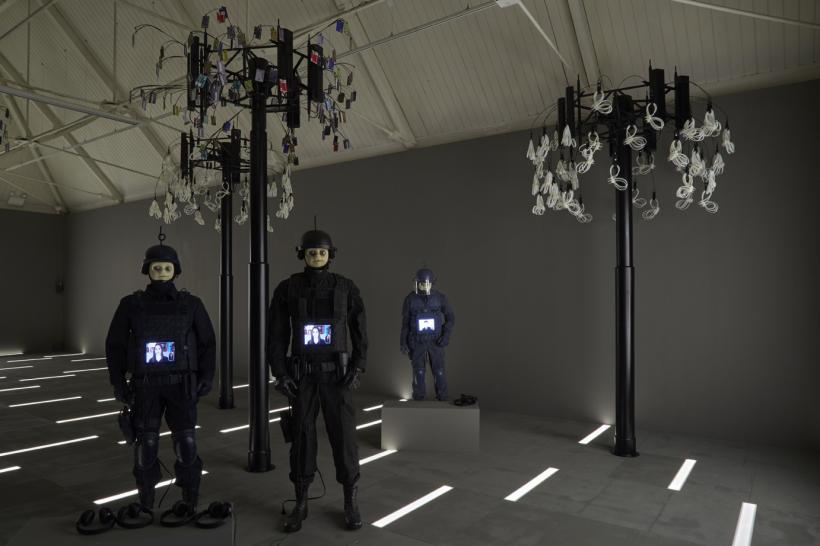 Josh Kline, Freedom, installation view, Modern Art Oxford