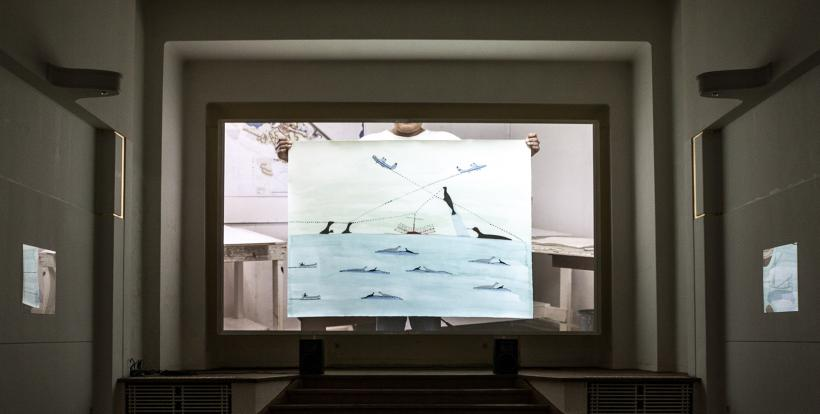 Fish Plane, Heart Clock, Installation View at La Loge, Brussels