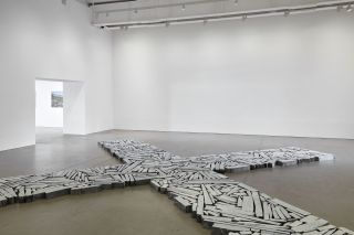 Installation view of TIME AND SPACE by Richard Long, 31 July – 15 November, Arnolfini, Bristol