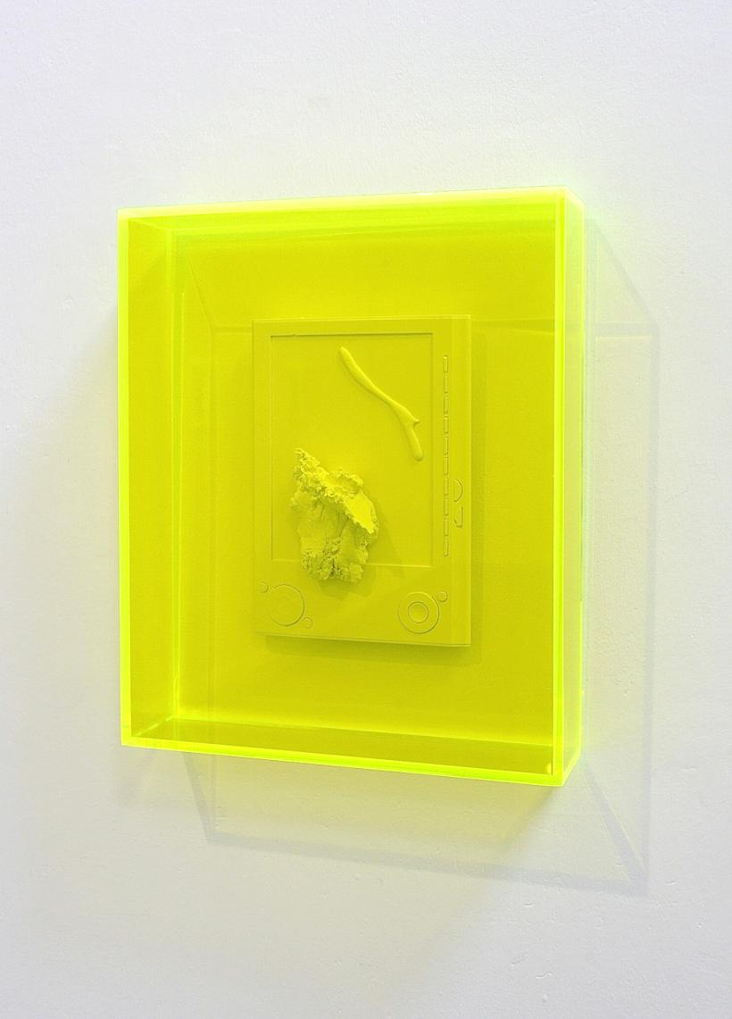 Niall Macdonald, 'untitled fragments in acid green', 2015