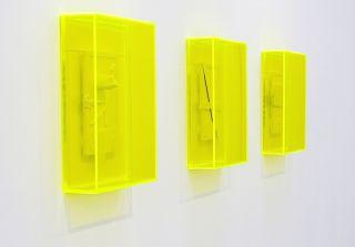 Niall Macdonald, 'untitled fragments in acid green', 2015