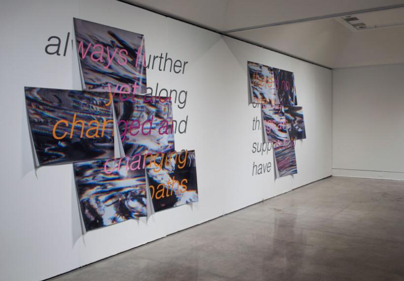 Versions, Versions of... 2015 inkjet on vinyl and vinyl lettering, 254 x 228.6 cm