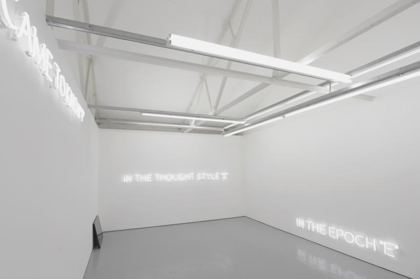 The Thought Style Meets The Thought Collective  exhibition view, first floor gallery, room 3  Maureen Paley, London