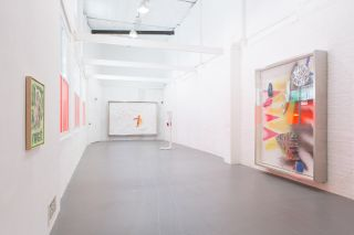 Installation view of Albert the kid is ghosting