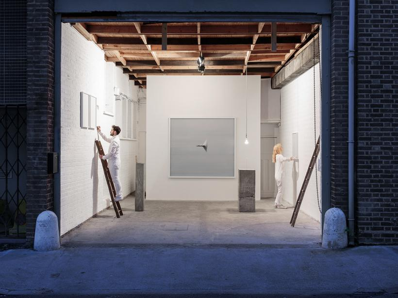 Andrea Galvani, The Sun, a Gold Nugget and Seven Stairs. Performance and Installation view at The RYDER Projects, London, 9 October - 5 December, 2015.