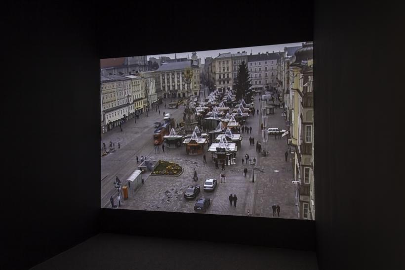 Installation view, Emily Jacir: Europa (Nothing Will Happen (eight normal Saturdays in Linz), 2003) Whitechapel Gallery, London 30 September 2015 - 3 January 2016